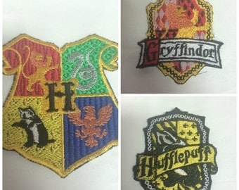 house crests Iron on or sew on Patches