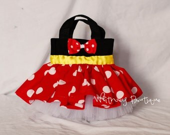 Red Minnie Mouse Tote Bag