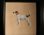 Treeing Walker Coonhound Cross Stitched Full Body Dog.