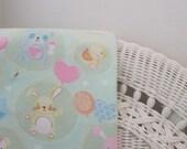 Mint Green Animals, Cotton Flannel Baby Blanket, Baby Blanket,Receiving,Swaddling,Baby Gift, Baby Shower, Animals, Handmade in Wisconsin,USA