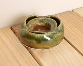 Green & Brown Cigarette Ash Tray (Imperfect Creation)