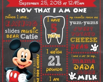 Mickey Mouse Chalkboard - DIGITAL FILE ONLY