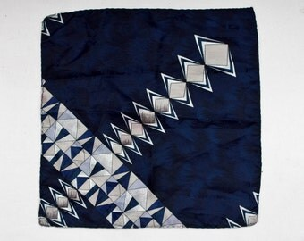 "80's Vintage ""SHERMAN"" Pattern Pocket Square"