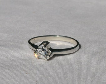 Genuine Flawless Ziamond Cubic Zirconia Trillion Solitaire Ring Cz Sterling Silver Size 7 Promise Ring Engagement Ring