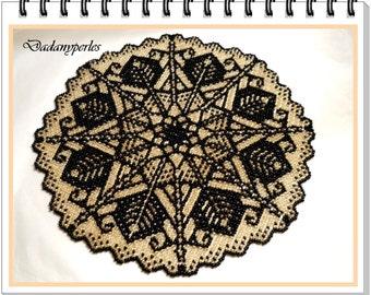 pattern bead weaving doily egypte