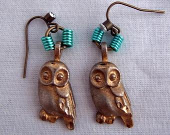 Elegant Owl Dangle Earrings