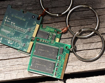 3 Computer Chip RAM Keychains - Set of 3