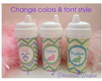 Kids Easter gifts - Personalized Easter sippy cups  - Easter basket stuffers - Bunny sippy cups - duck sippy cups Easter cups