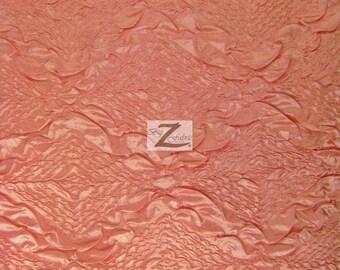 "Diamond Crush Taffeta Fabric - PINK - 48"" Width Sold By The Yard"