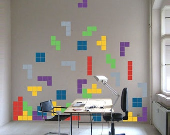 Tetris Decals   Video Game Decals   Lego Art, Kids Room Video Game Wall  Decal
