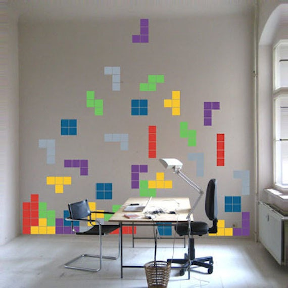 Tetris Decals Video Game Decals Lego Art Kids Room Video