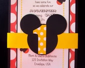 Mickey Mouse birthday party invitations | Mickey Mouse Invitations | 1st Birthday Invite | Mickey Mouse clubhouse invitations | Personalized