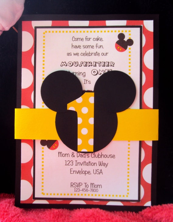 mickey mouse birthday party invitations mickey mouse