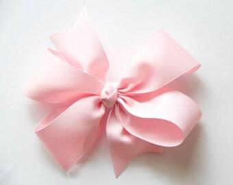 Big Boutique Bow - Baby Pink - Girl Bow - Hair clip - Large Ribbon Bow - Big Hair Bow - Toddler, Girl Ribbon Hair Bow