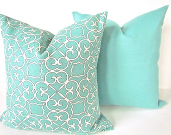 mint pillow set of 2 20x20 decorative throw pillows cover 20 x 20 mint green pillow covers. Black Bedroom Furniture Sets. Home Design Ideas