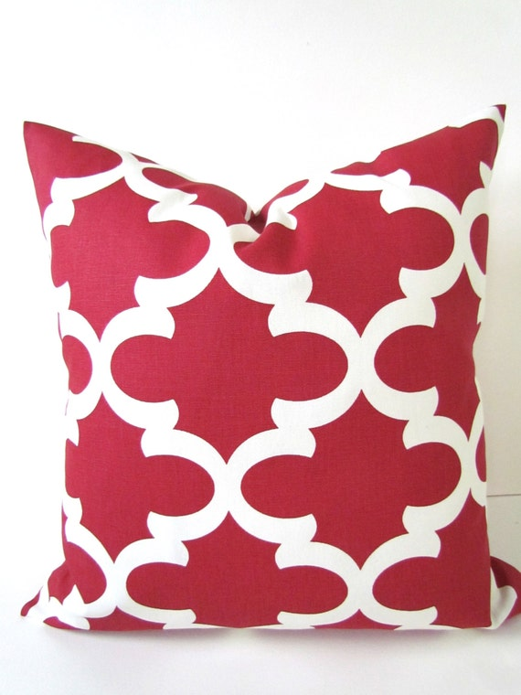 16x16 Decorative Pillow Covers : PILLOW COVERS RED 16x16 Decorative Throw by SayItWithPillows