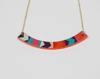 Necklace ARROW. Laquer Multicolor