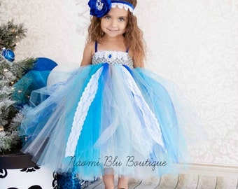 Vintage Winter wonderland lace tutu dress. Great for winter weddings, flower girl dress, pageant, holiday photos and more. Ice Princess