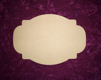 Unfinished Wood Plaque Wooden Cut Out Wooden MDF Paintable 9 x 13 Inch Part#  MPLAQ-02