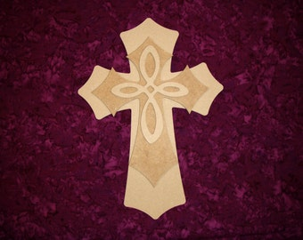 Unfinished Wood Layered Wooden Cross Stacked Paintable Craft Crosses Part MLC15-181