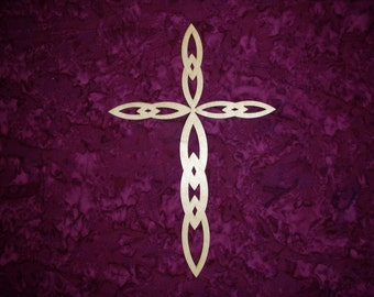 Unfinished Wood Cross Wooden Craft Crosses Paintable Stainable FC-020