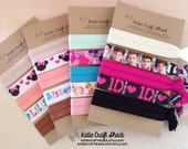 Soft Elastic Hairties 5 piece yogaties, one direction, big and lil sis, my little pony and solid mix ties