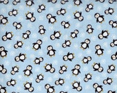 Mini Penguin fabric  -  Timeless Treasures - Eskimo Kisses - by the continuous YARD