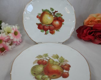 German Bareuther Still Life Fruit Plates Display Plates - Set of 2