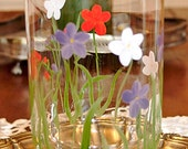 Vintage Hand Painted Glass Vase
