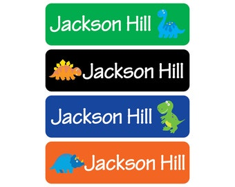 Waterproof Daycare Labels - Dishwasher Safe, Dinosaur, Great for daycare, preschool, and school