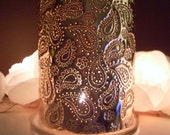 Copper Anniversary gift, Paisley Passion Copper Candle Lantern (for indoor or outdoor use)