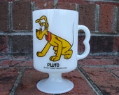 Pluto Milk Glass Footed Pedestal Mug