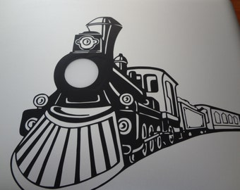 Train Locomotive Decal MacBook Pro PC Laptop Decal Choo Choo Lighted Sticker Lamp Light Up Glow
