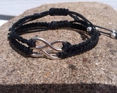 SALE: Couples Matching Infinity Bracelets His Knotted Hers Braided You Choose Cord Color and Charm Finish