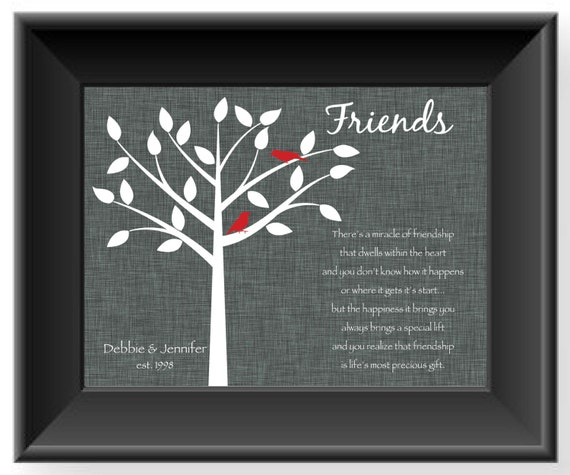Special Wedding Present For Best Friend : Best Friends GiftPersonalized Gift for a Special FriendBFF ...