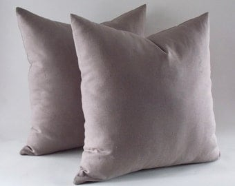 Set of 2 / Ivory Linen Pillow, Cushion Cover, Throw Pillow, Decorative Linen Pillow