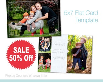 On Sale 50% Off. 5x7 Card Template. Photoshop PSD Files. For Personal and Small Commercial Use. A_106