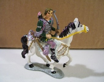 Vintage Franklin Mint Enchanted Mountain Jordan On Pook Pewter Figure 1989 Fantasy, Horse