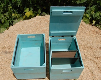 File Cabinet/ Office Furniture/ Portable File Storage/ Turquoise