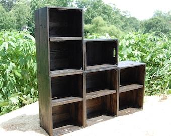 Modern Book Shelf / Wall Unit/ Bookcase / Ebony/ Shelving