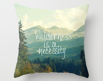 Throw Pillow - Home Decor, Photography, Photo pillow, Mountains, Wilderness, Forest, Landscape, Gift, Throw pillow