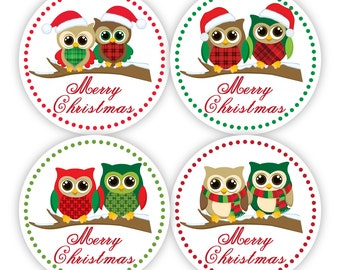 Merry Christmas Stickers Grey Red Turquoise Orange Dots