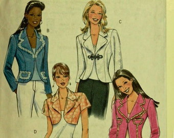 Jacket & Bolero Set - 2000's - Butterick Pattern 4809 Uncut  Sizes  6- 8-10-12, 14-16-18-20