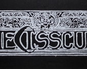 """Die Cis Scum Screenprinted Patch 3.5"""" x 11"""" Back Patch Queer Radical"""