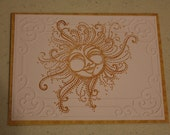 Sun Embossed Note Cards Set of Three