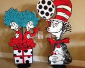 Dr Seuss Inspired Centerpiece Cat in the Hat, Thing 1 Thing 2