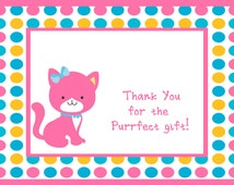Kitten Party Thank You Notes