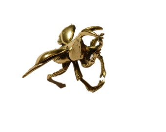 Brass Stag Beetle  Ring (jb-r-001)