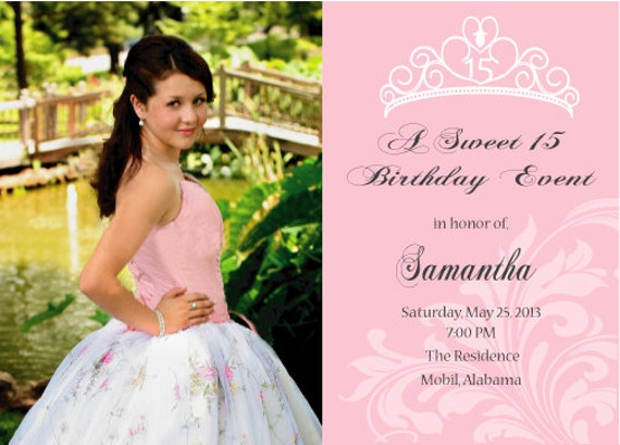 Priceless image with free printable quinceanera invitations