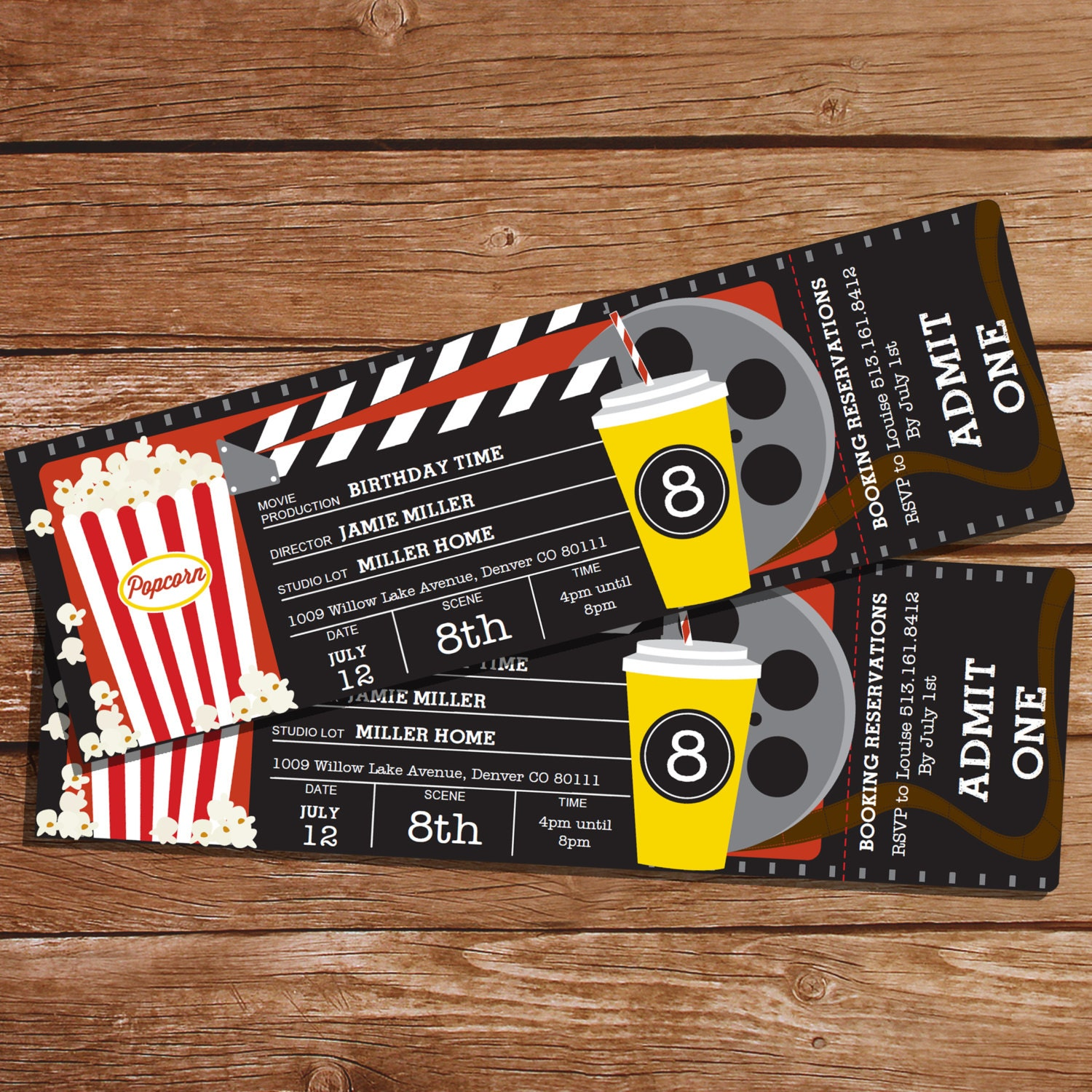 It's just a picture of Geeky Printable Movie Tickets Template